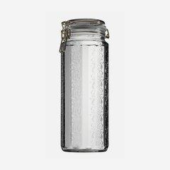 Wire bail jar 2250ml, white, double hexagonal