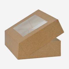 Pastry box, brown, window