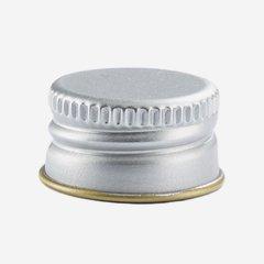 Aluminium screw cap 18mm, silver