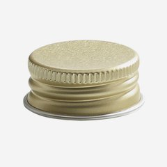 Aluminium screw cap 28mm, gold