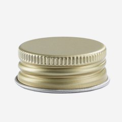 Aluminium screw cap 31,5mm, gold