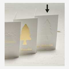 """gift tag """"tree""""  gold relief"""