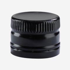 Screw cap Deep ø31,5/H24mm, black, with glass ball
