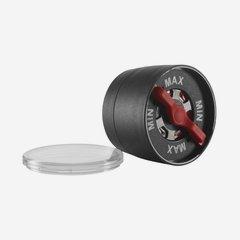 Spice grinder, black, red adjustment screw
