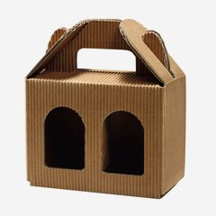 Jars cardboard box eCo-wave for 2 x Fac-192, brown