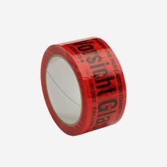 """Adhesive warning tape """"Vorsicht Glas"""", red"""
