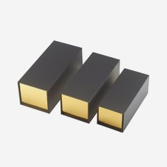 "Foldable box ""Opal"", outside black, inside gold"
