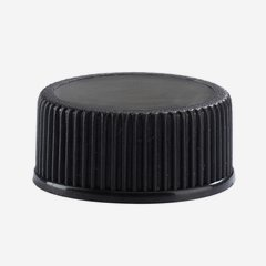 Pilfer proof plastic screw cap 24mm, black
