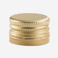 Pilfer proof aluminium screw cap 24mm, gold
