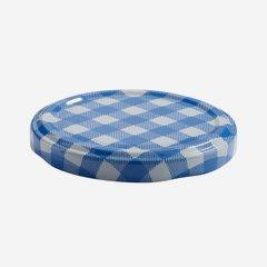 Twist Off Cap, ø70mm, blue-white checkered