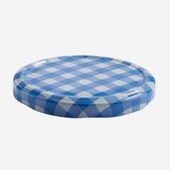 Twist Off Cap, ø82mm, blue-white checkered, C864