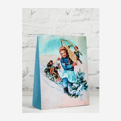 """Carrier bag with cord handles, """"Happy Winter Days"""""""