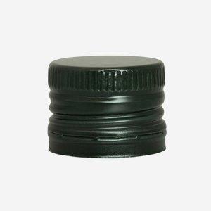 Alum. screw cap with pourer insert, 31,5/24, green