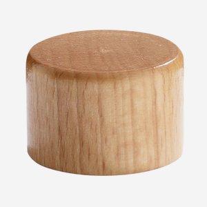Aluminium-wooden screw cap 28mm, natural lacquered