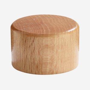 Aluminium-wooden screw cap 31,5 natural lacquered