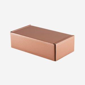 Gift cardboard box in copper optic
