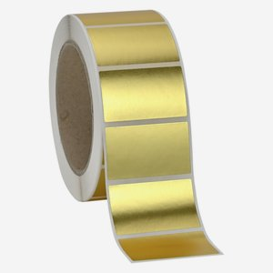 Label 30x50mm, gold - mat