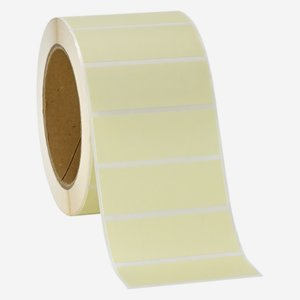 Label 25x69mm, light cream