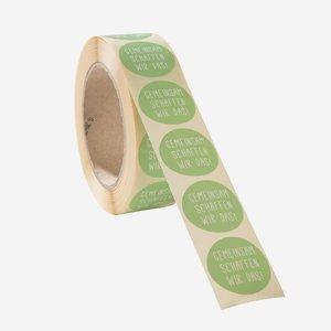 Label  ø 35 mm,  round