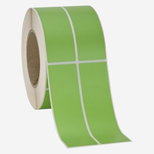 Label 135x39mm, light-green, dual lane