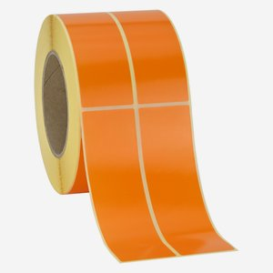 Label 135x39mm, orange, dual lane