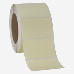 Label 50x80mm, light cream