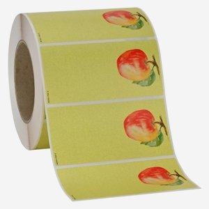 "Label series ""SINGLE FRUIT - Apple"", 115x55mm"