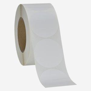 Label 65x65mm, white, round