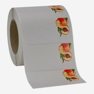 Label 114x55mm, peach