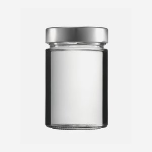 Cylindrical jar FACTUM 370ml, white, mouth: TO70DE