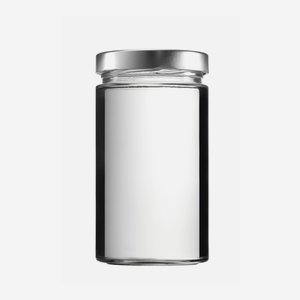 Cylindrical jar FACTUM 720ml, white, mouth: TO82DE