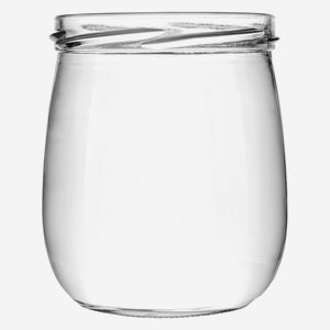 fruit yoghurt jar, 417ml, white, wide mouth