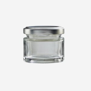 Cylindrical jar FACTUM 50ml, white, mouth: TO 53