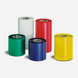 Printer ribbon 134mm x 300m, metallic white