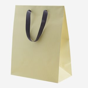 "Gift carrier bag with wide ribbon, ""Crema"""