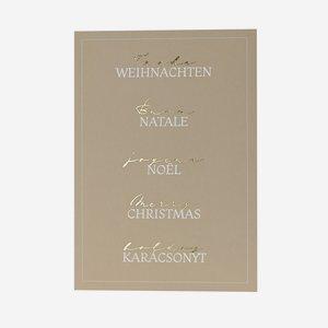 Postcard, multilanguge, christmas