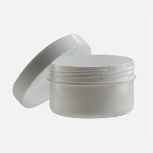 Salve jar 62ml, white, including screw cap
