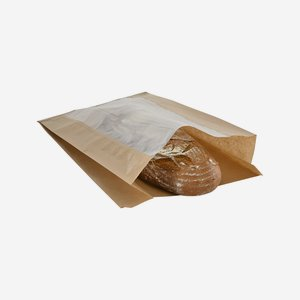 Side gusset bag, 4kg, window, 100% paper