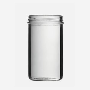 Straight Jar 277ml, white, wide mouth: TO 66