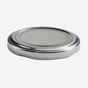 Twist Off Cap, ø63mm, silver
