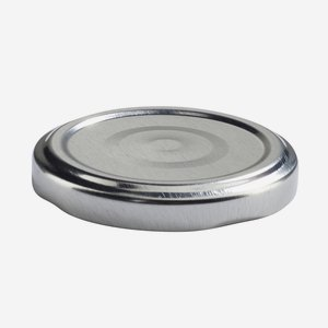 Twist Off Cap, ø58mm, silver,with vacuum indicator