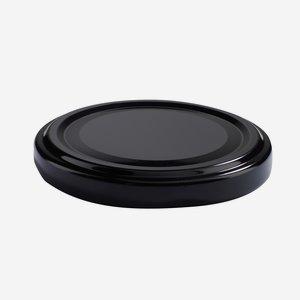 Twist Off Cap, ø63mm, black, C863