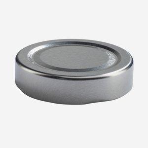 Twist Off Cap, ø58mm, Deep, silver