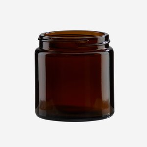 Cream jar 120ml, brown glass, wide mouth: Bak-58S
