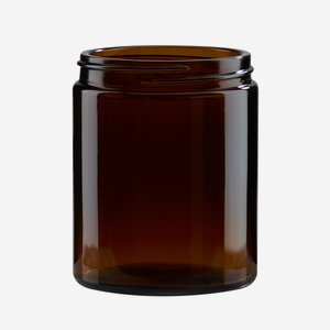 Cream jar 180ml, brown glass, wide mouth: Bak-63S