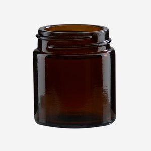 Cream jar 30ml, brown glass, wide mouth: Bak-38S