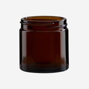 Cream jar 60ml, brown glass, wide mouth: Bak-51S