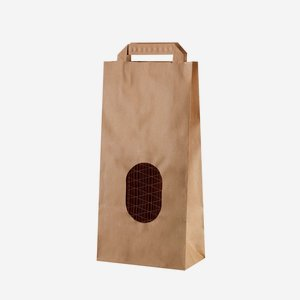 Potato carrier bag 2kg, brown, neutral