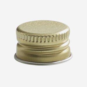 Aluminium screw cap 18mm, gold