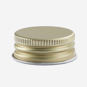 Aluminium screw cap 24mm, gold